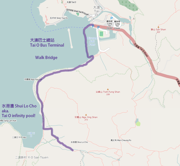 大澳 Infinity Pool map